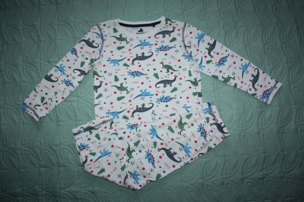 Biała piżama w dinozaury Lupilu r 110/116