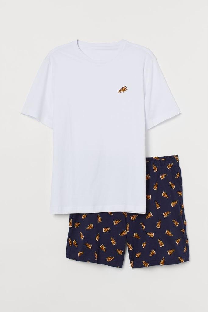 Piżama z T-shirtem i szortami H&M r.M
