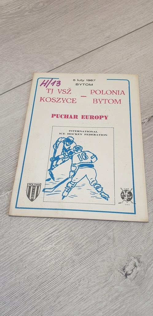 PROGRAM SPORTOWY - 1987 KOSZYCE - KS POLONIA