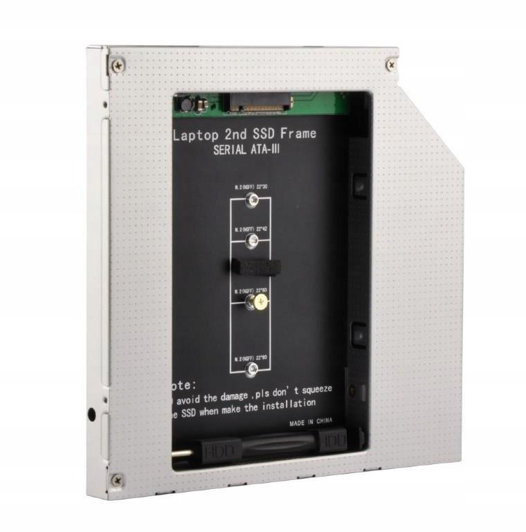 Adapter DVD SATA do M.2 SSD 9.5mm Gembird