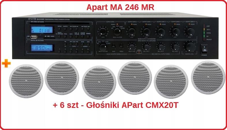 Wzmacniacz Apart MA 246 MR Miksujący CD + 6 Kolumn