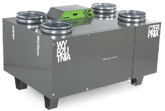 OXY Rekuperator Thesla AirPack 850v montaż projekt