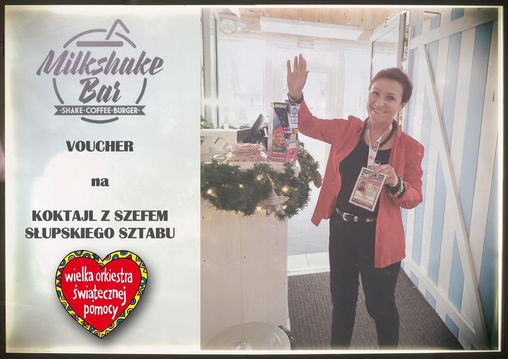 Voucher - koktajl z szefem słupskiego Sztabu WOŚP