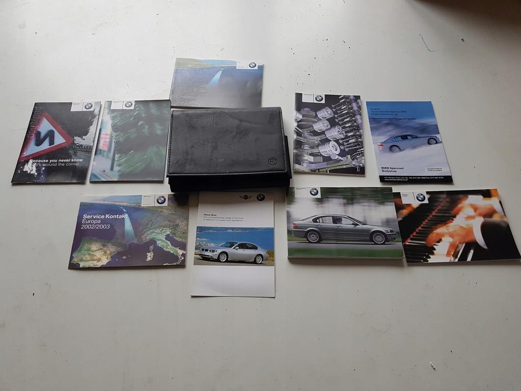 BMW E46 KSIĄŻKI ETUI INSTRUKCJA KOMPLET