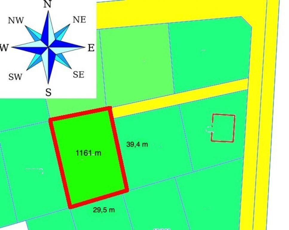 Działka, Bobolin, Kołbaskowo (gm.), 1161 m²