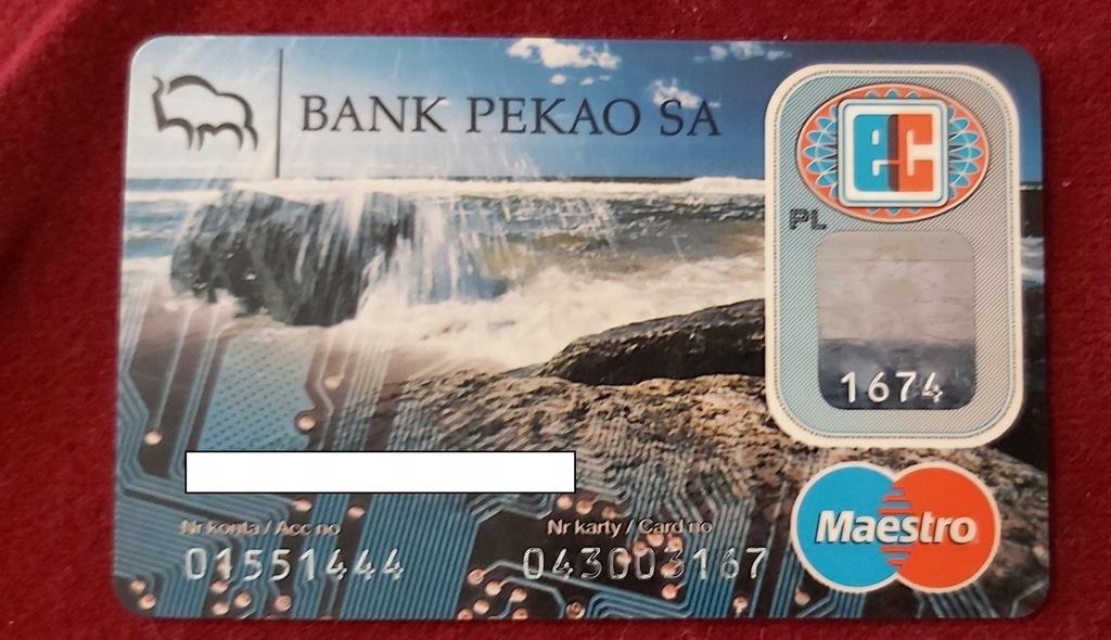 Karta Maestro BANK PEKAO S.A. - 03