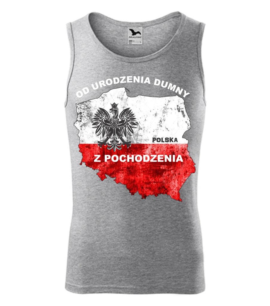 XXL Bezrękawnik Od Urodzenia koszulka Polska