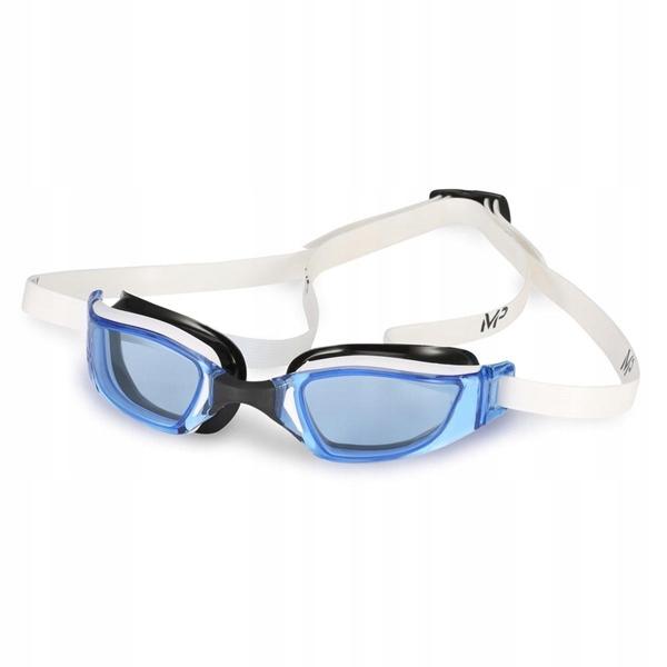 MP okularki pływackie XCEED biało/ niebieskie