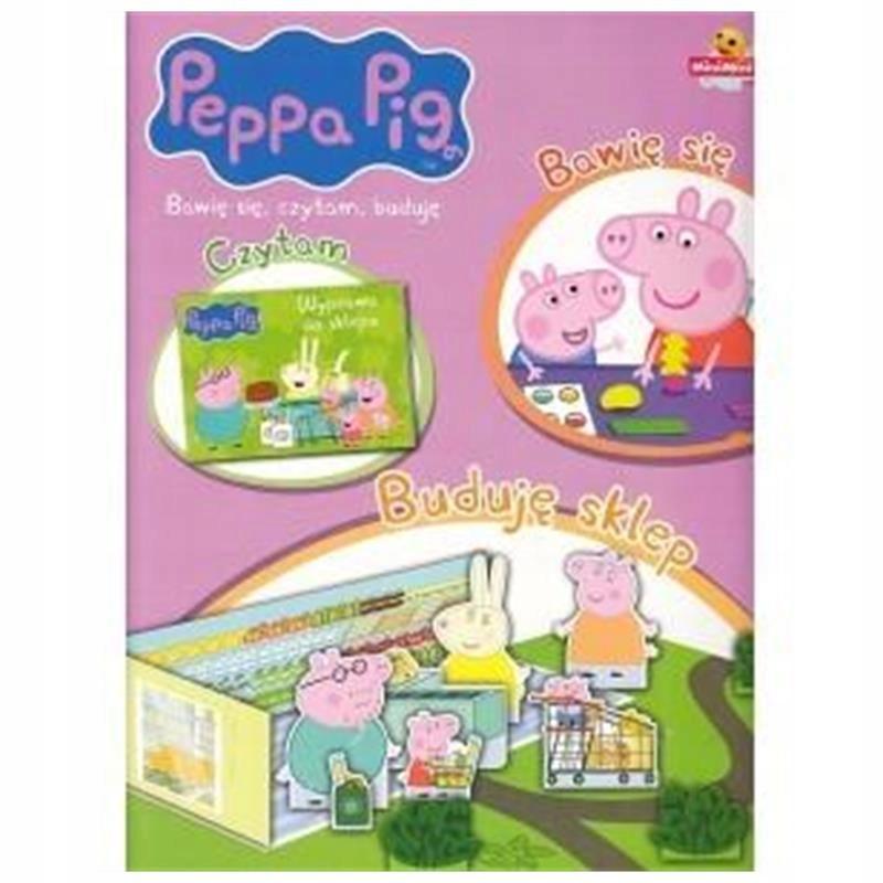 Świnka Peppa. Bawię się, czytam... Buduję sklep