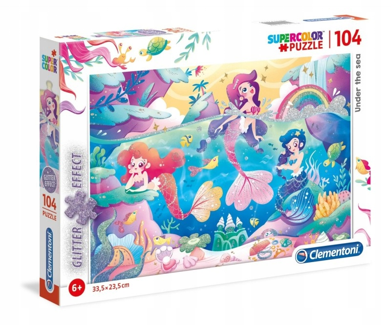 Puzzle 104 elementy Under the Sea z brokatem GXP-6