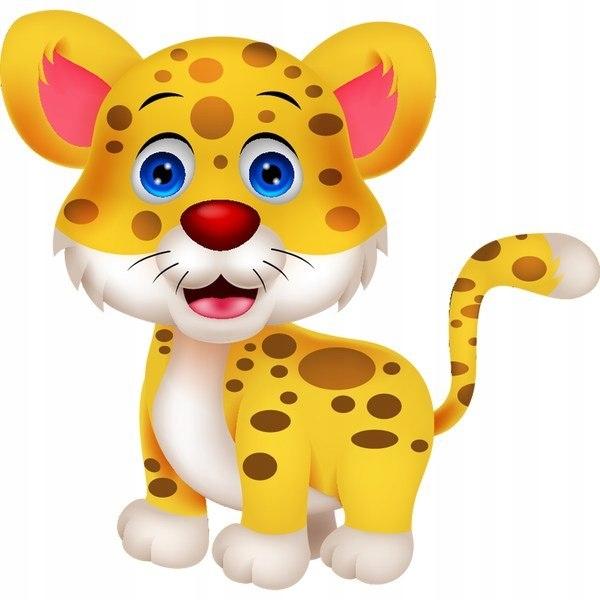 Tygrysek 10 x 10 cm naklejka ścienna dziecka
