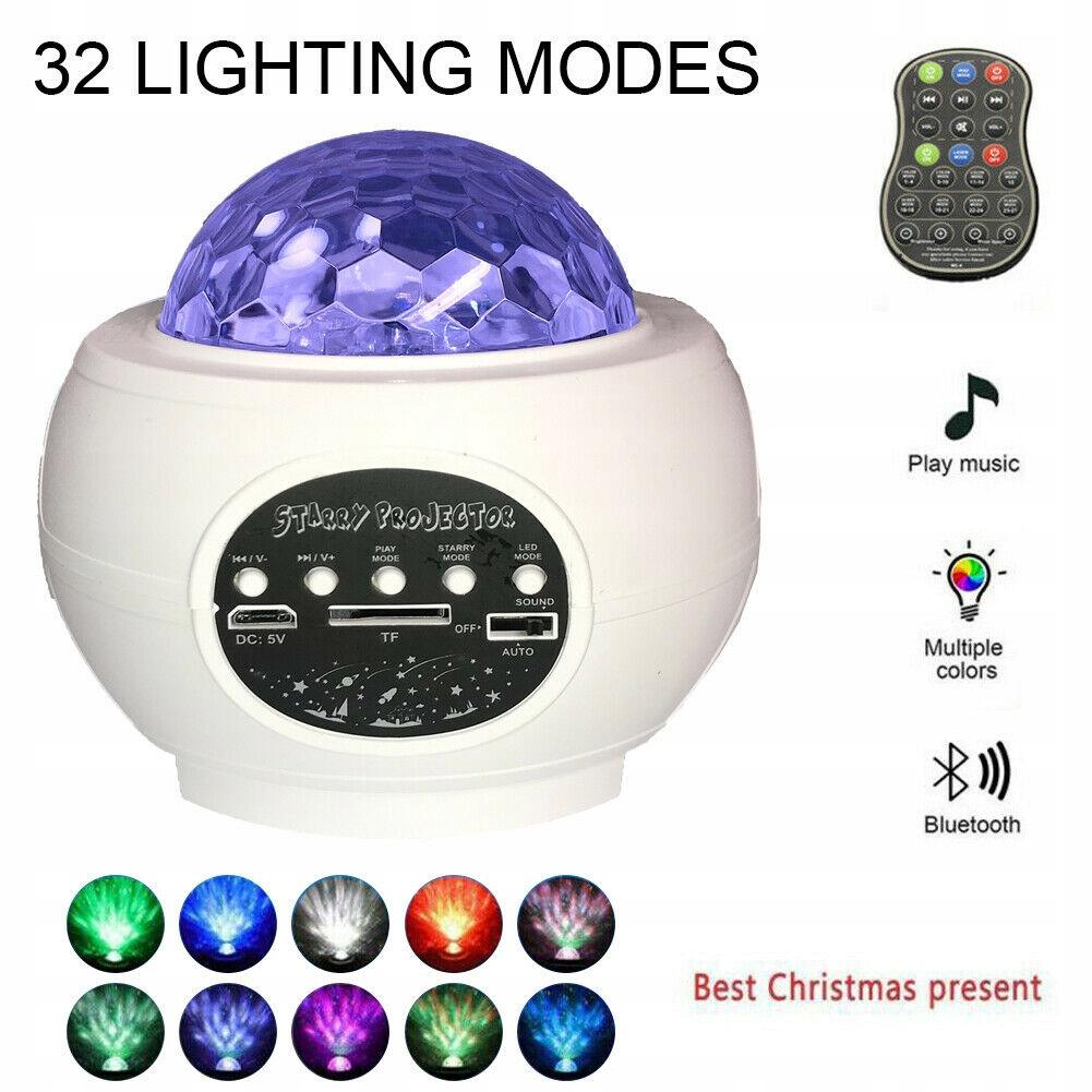 Lampa muzyczna Projektor LED Gwiaździste niebo