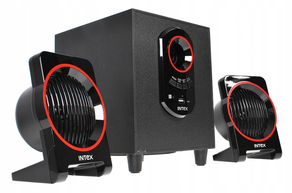 GŁOŚNIKI KOMPUTEROWE 2.1 INTEX USB MP3 AUX IT-1600