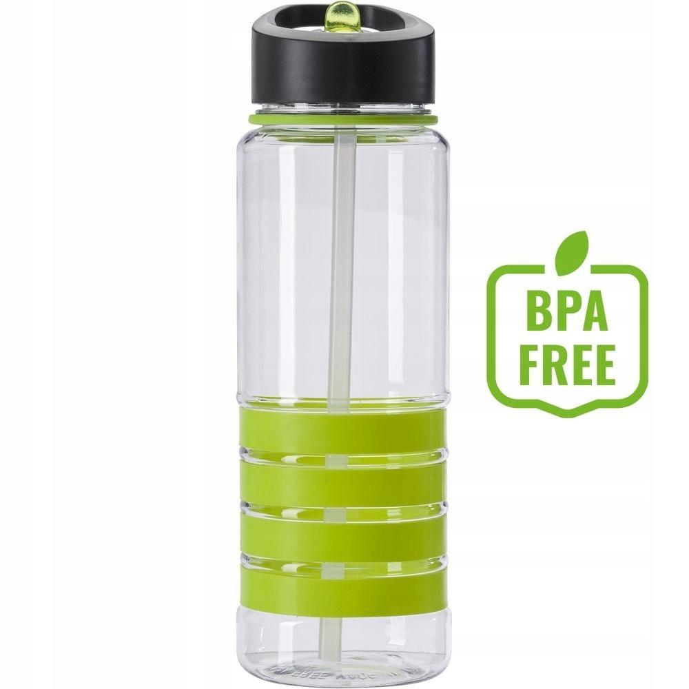 Butelka sportowa 700 ml, PE, PS, PP, silikon