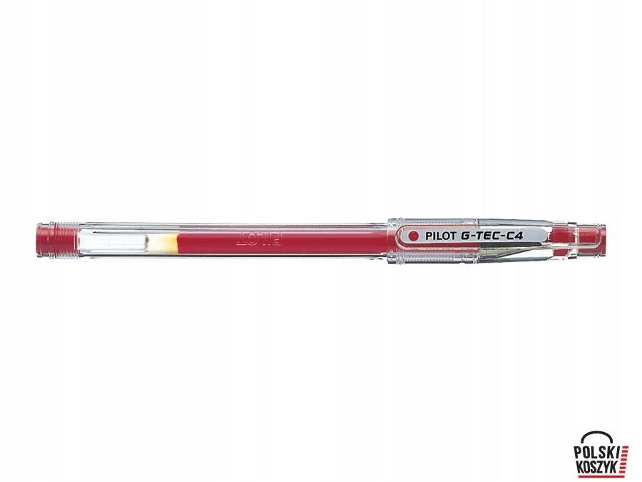 Pióro żelowe PILOT G-TEC czerwony PIBL-GC4R