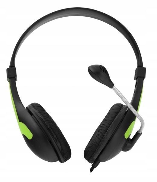 ESPERANZA Słuchawki z mikrofonem ROOSTER zielone