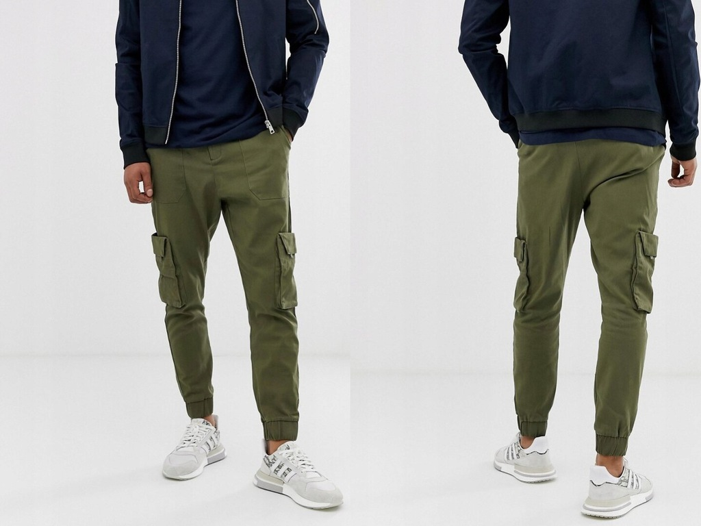 ONLY& SONS Granatowe spodnie męskie W33 L34