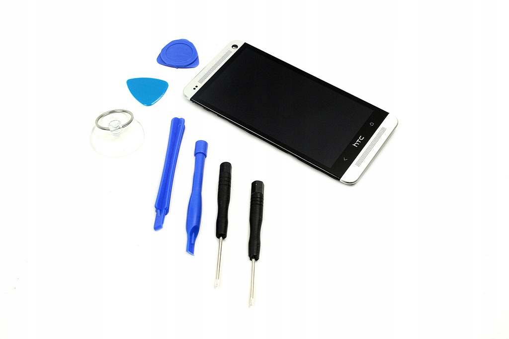 WYŚWIETLACZ LCD + DOTYK + RAMKA DO HTC ONE M7 801E