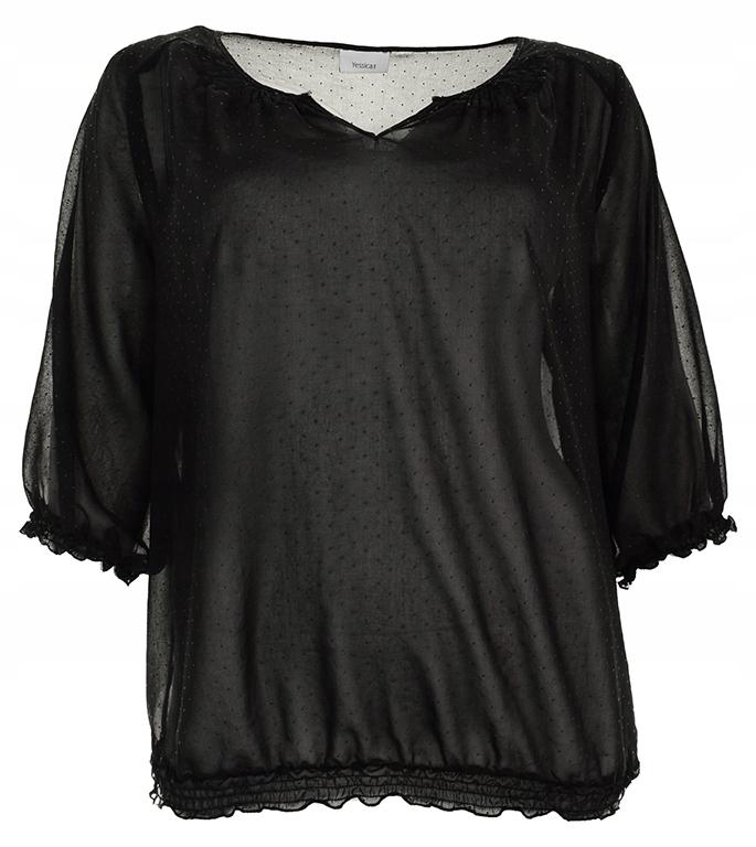 tBBB1091 C&A czarna bluzka w gumkę 50
