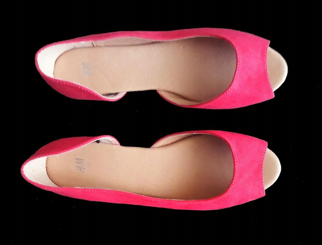H&M baleriny sandały asymetryczne 37
