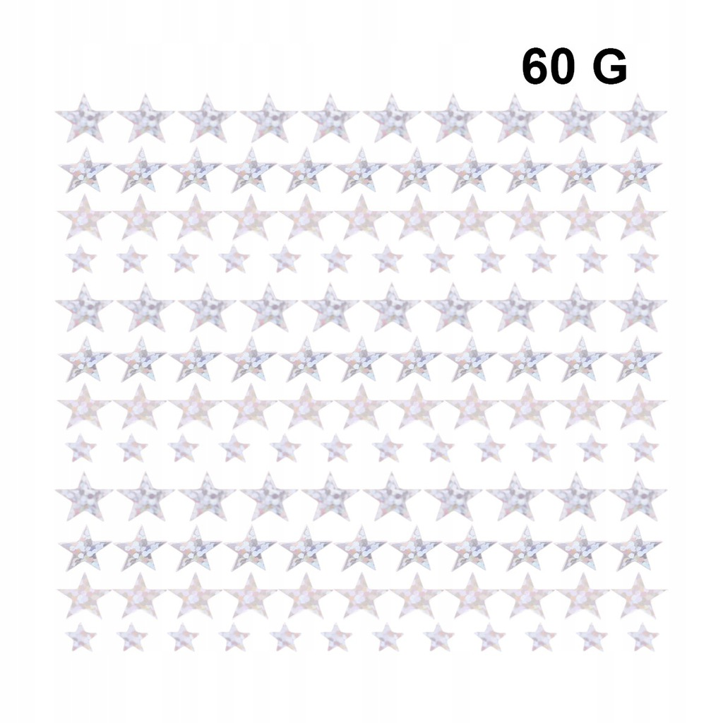 60G pentagram konfetti kreatywne dekoracyjne konfe