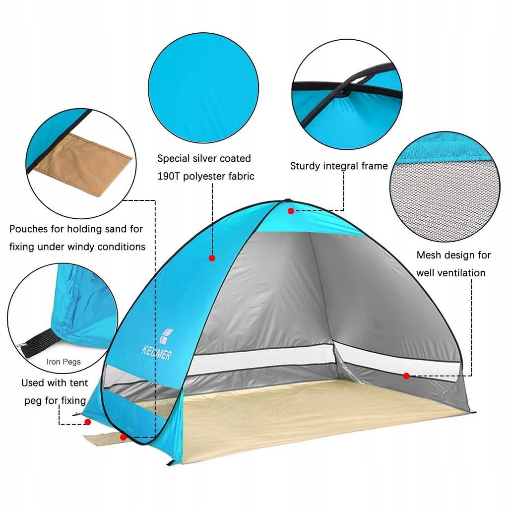 NOTENS Namiot rozkładający się na plaże