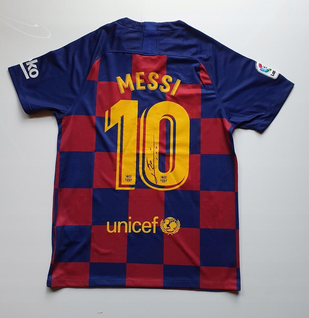 Messi, FC Barcelona - koszulka z autografem (zag)