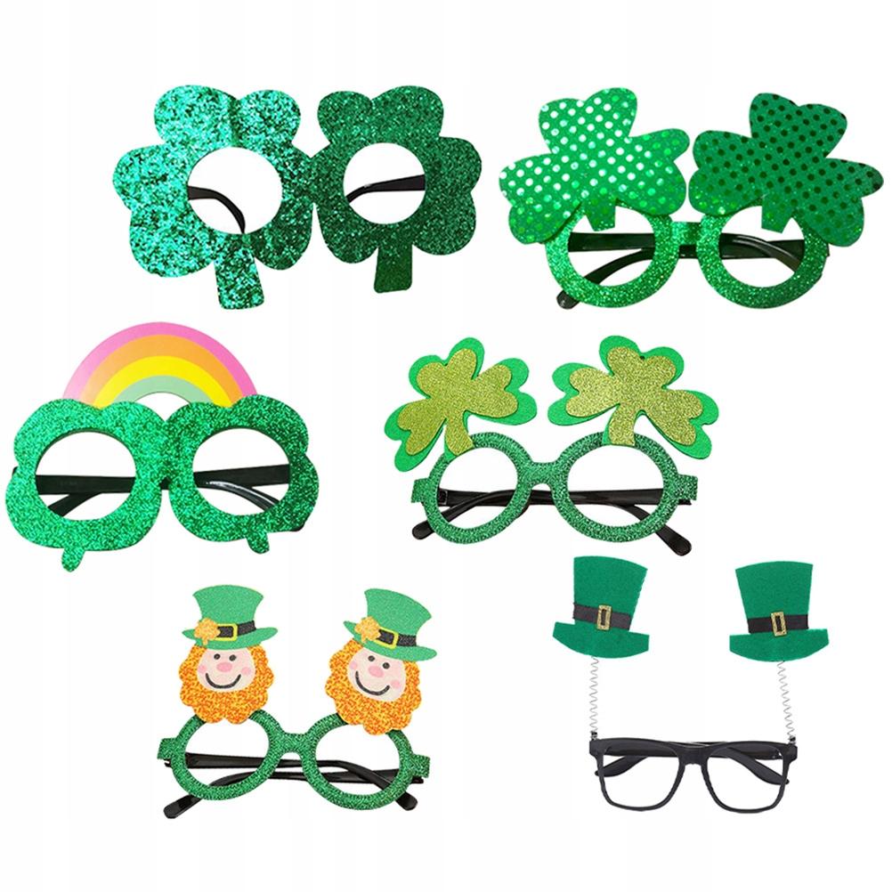 6 sztuk dzień świętego patryka okulary na imprezę
