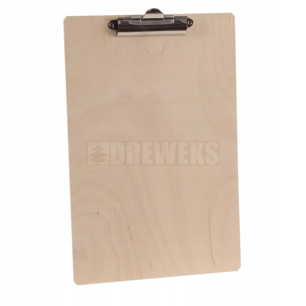 Drewniany clipboard A4 Podkładka z klipsem