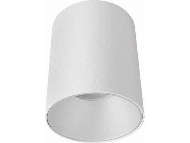 Okrągła lampa sufitowa biała z metalu 11cm