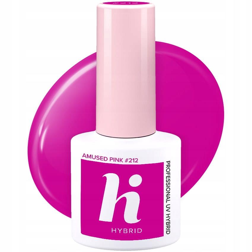 Hi Hybrid #212 Lakier Hybrydowy Amused Pink 5 ml