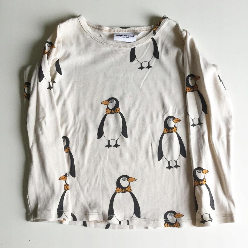 Mini Rodini bluzka pingwiny 104/110