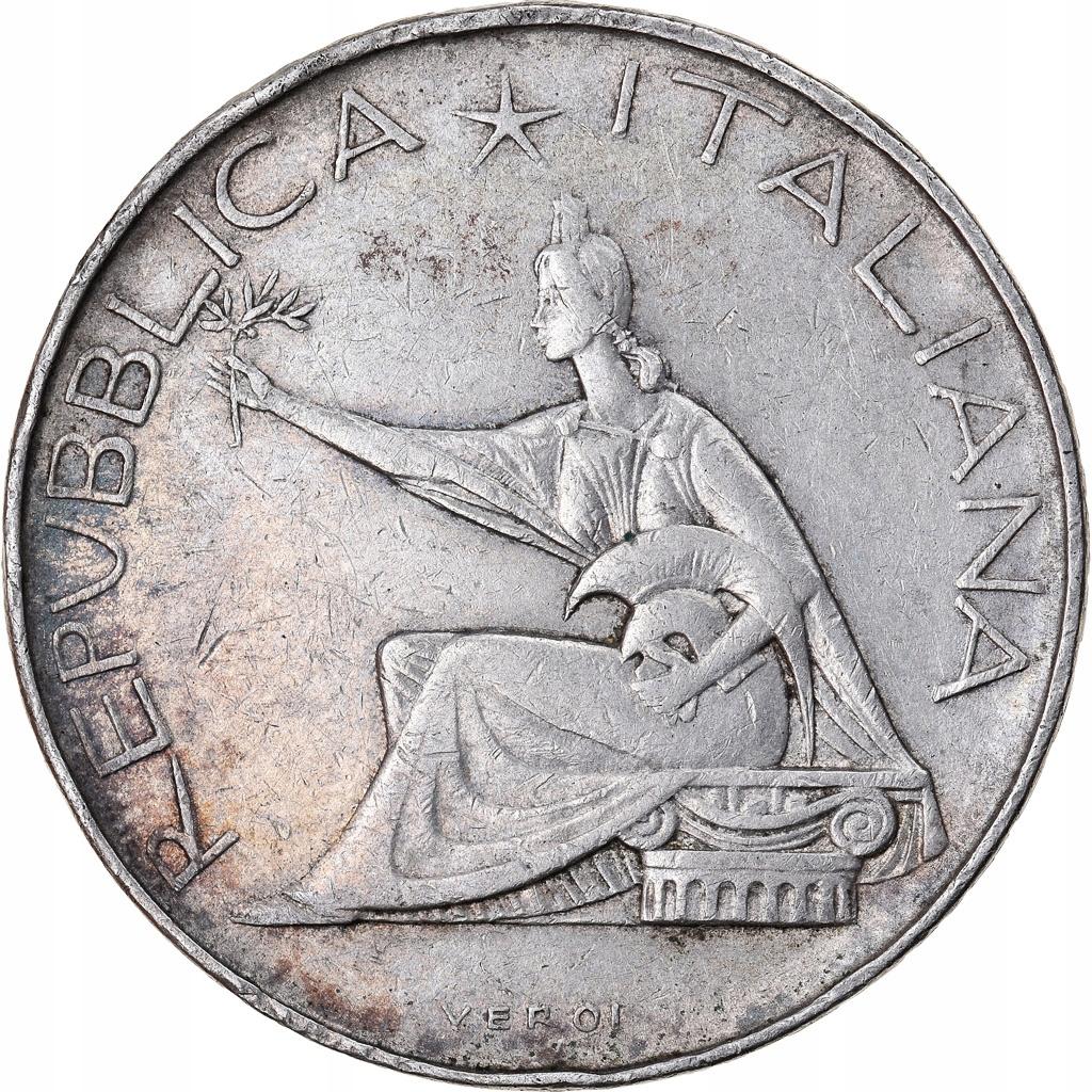 Moneta, Włochy, 500 Lire, 1961, Rome, AU(55-58), S