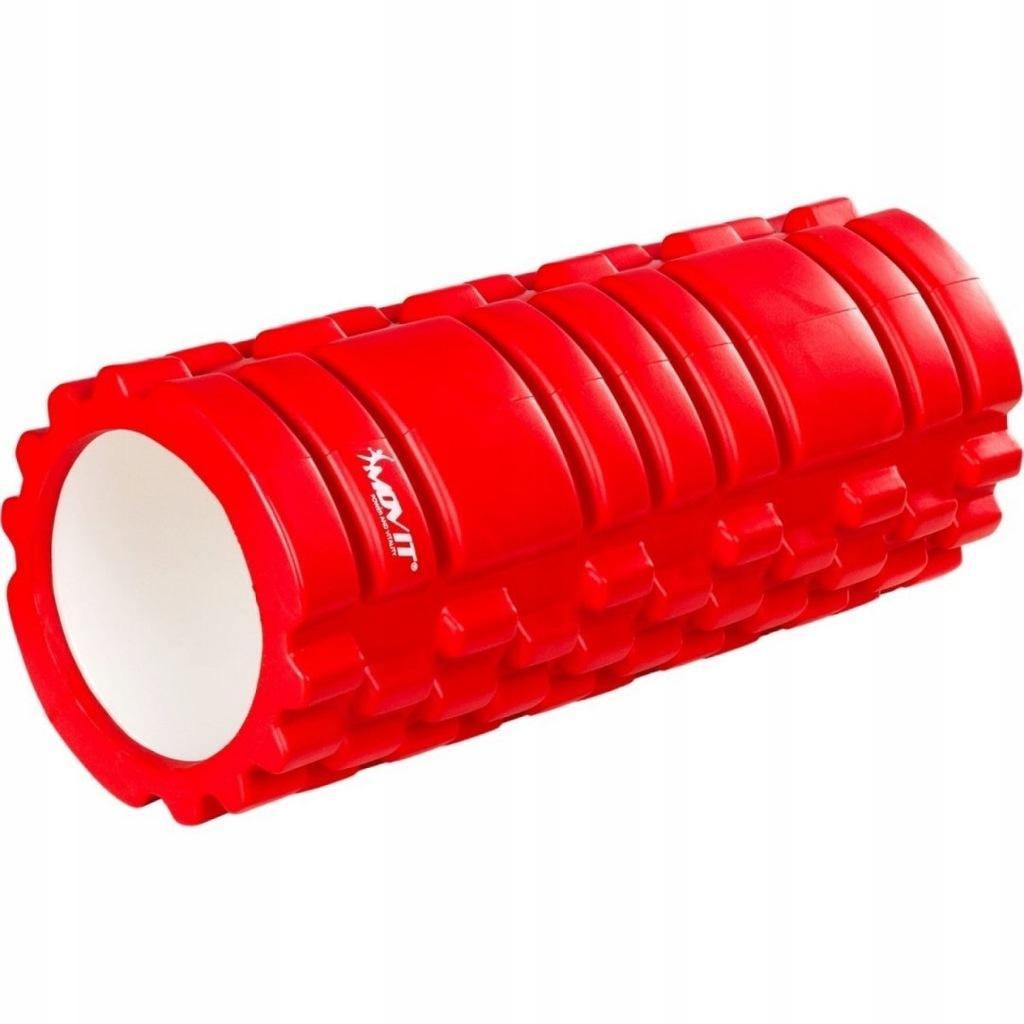 Wałek do masażu MOVIT 33 x 14 cm, czerwony roller
