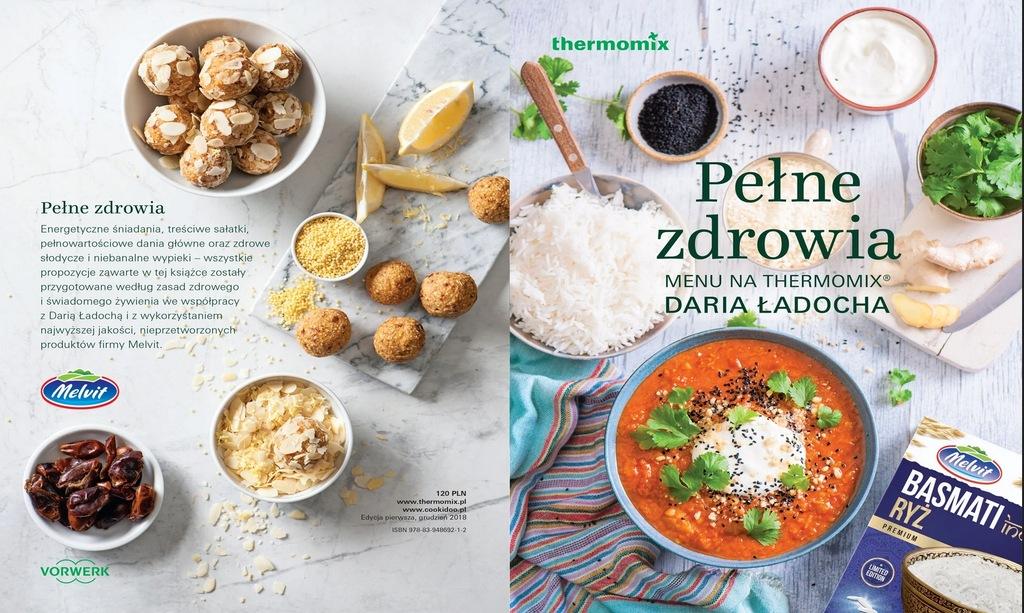 Książka Pełne zdrowia menu THERMOMIX Daria Ładocha