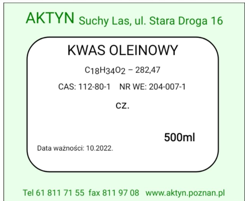 Kwas Oleinowy 100ml.