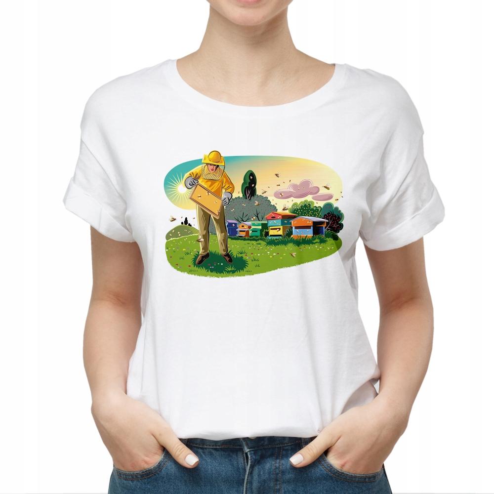 Koszulka T-Shirt damska - W pasiece L