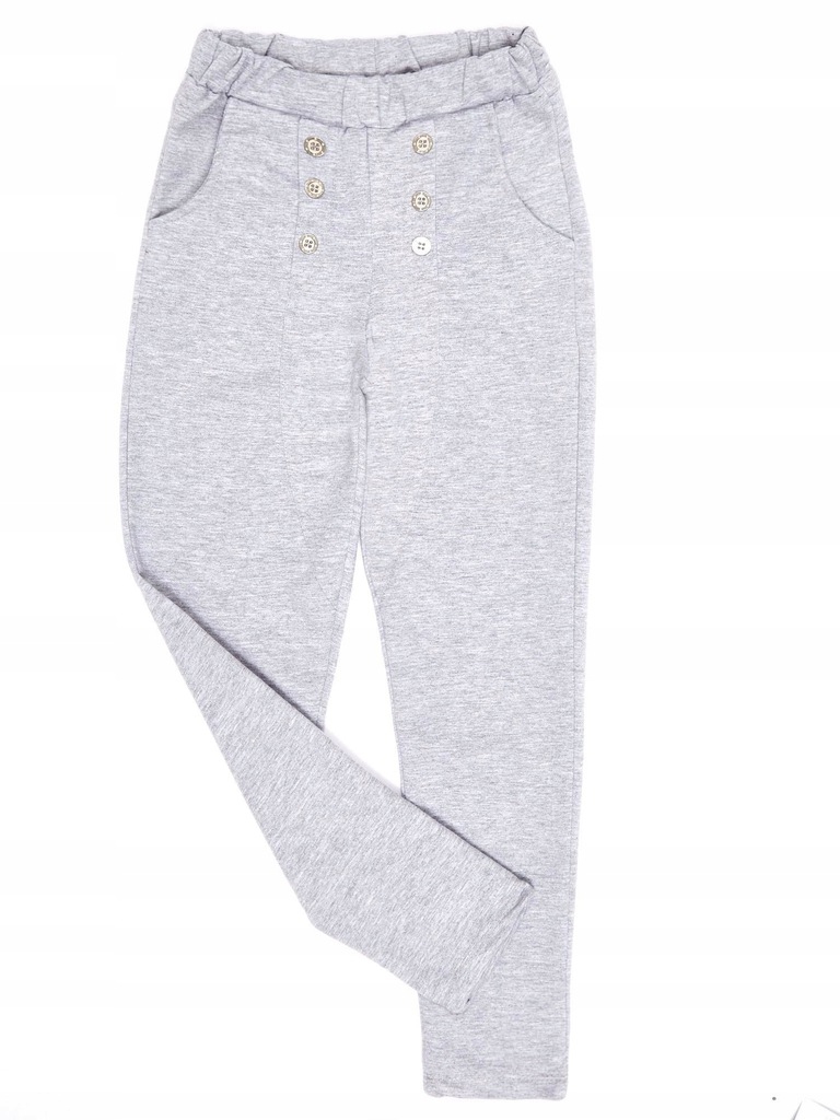 Jasnoszare spodnie dresowe dla dziewczynki 116
