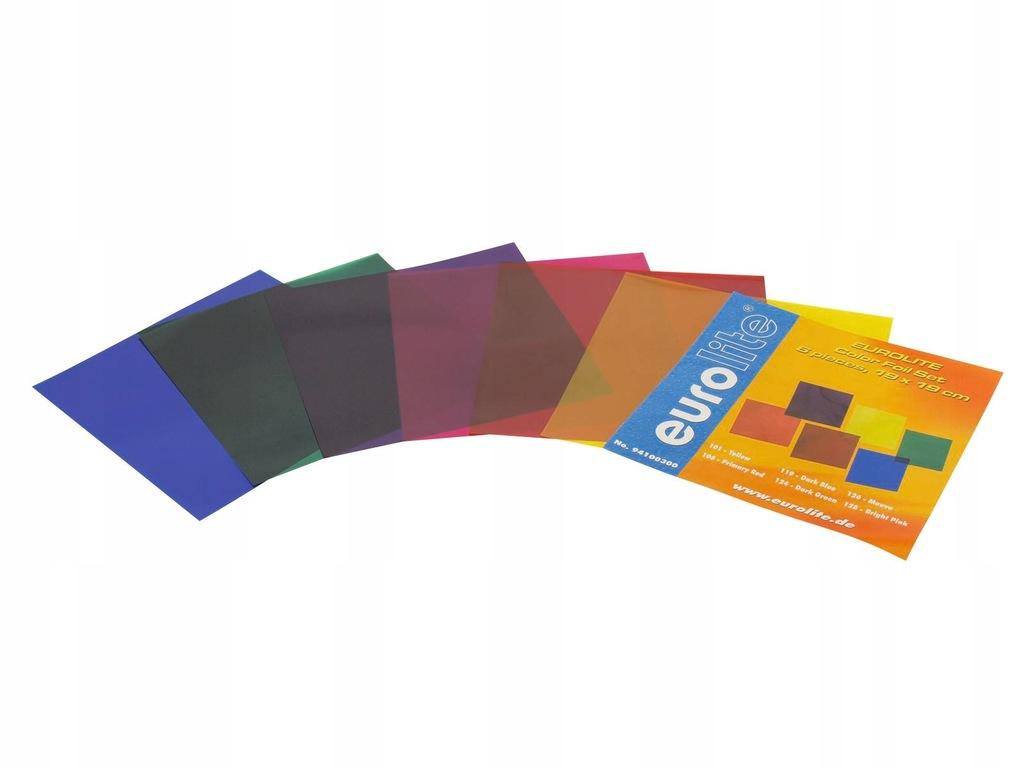 Filtry do reflektorów zestaw Eurolite 19x19cm 6szt