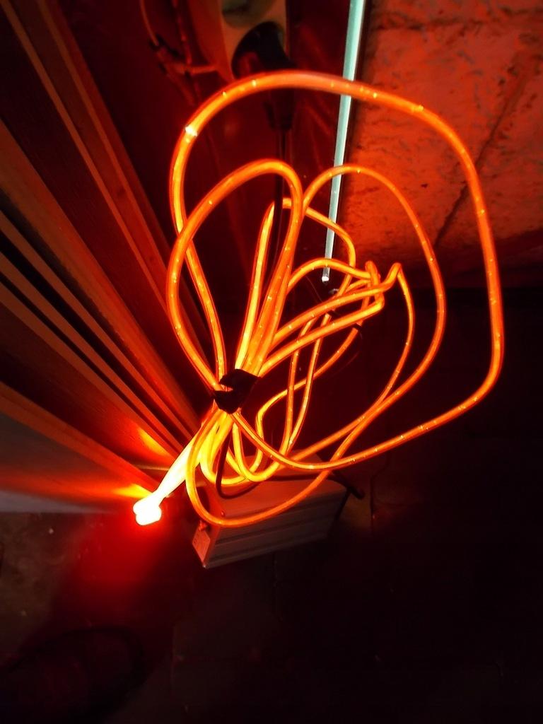 wąż świetlny światłowód