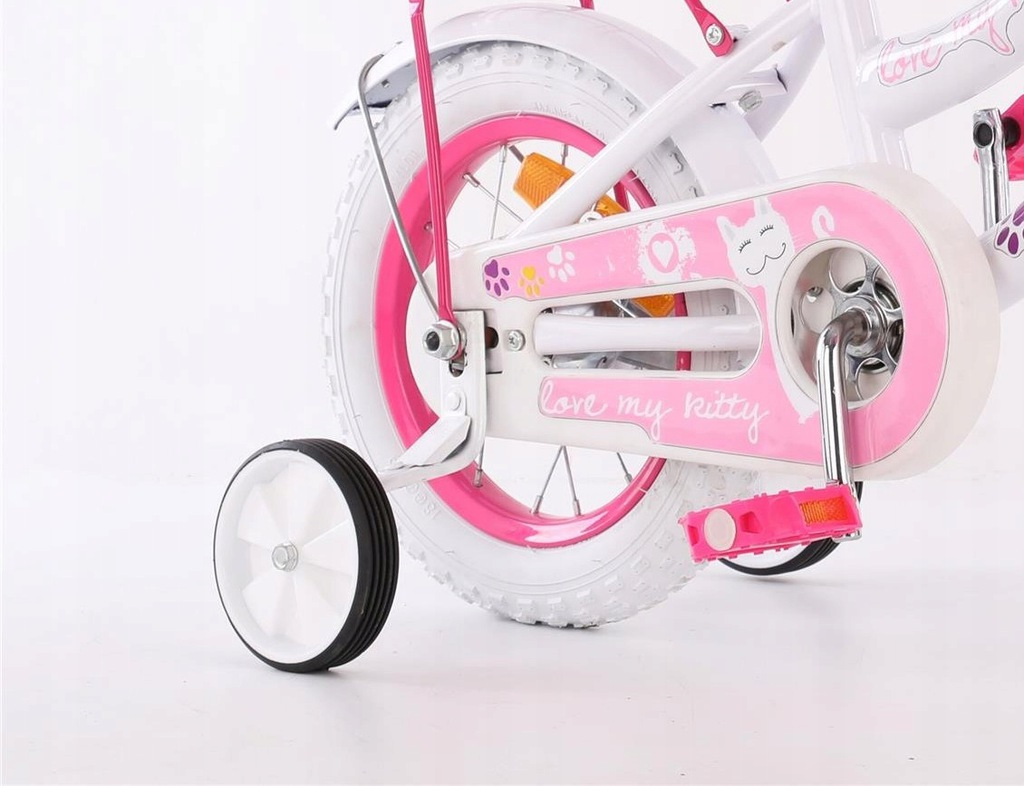 Rower dla dziewczynki 12 cali Enero Love Kitty