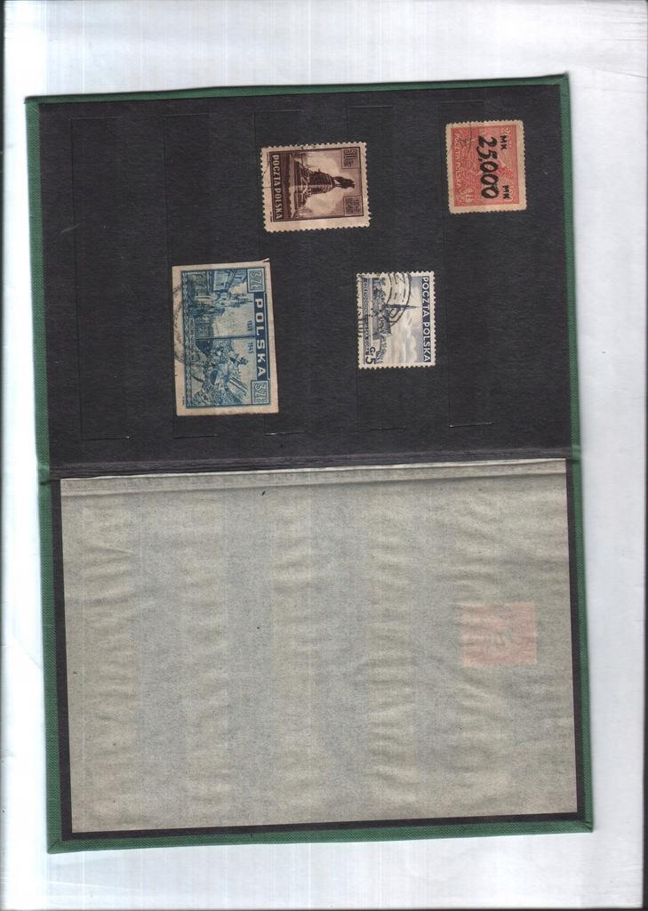 Filatelistyka pol. - 4 znaczki - 1923, 1937 i 1945
