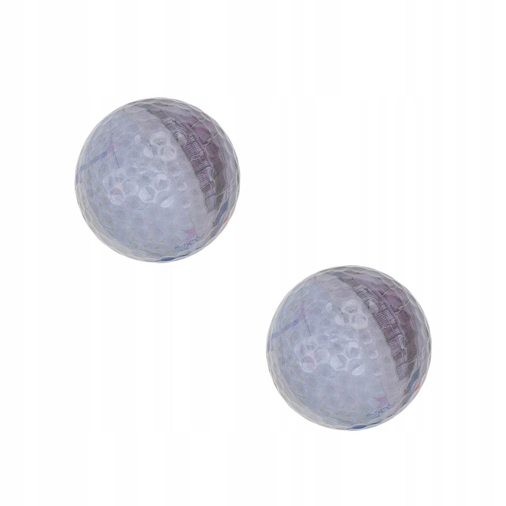 2 szt. Kreatywna piłka golfowa Euro Papier Waluta