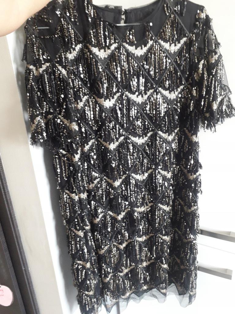 Sukienka Zara z frędzlami i cekinami 36