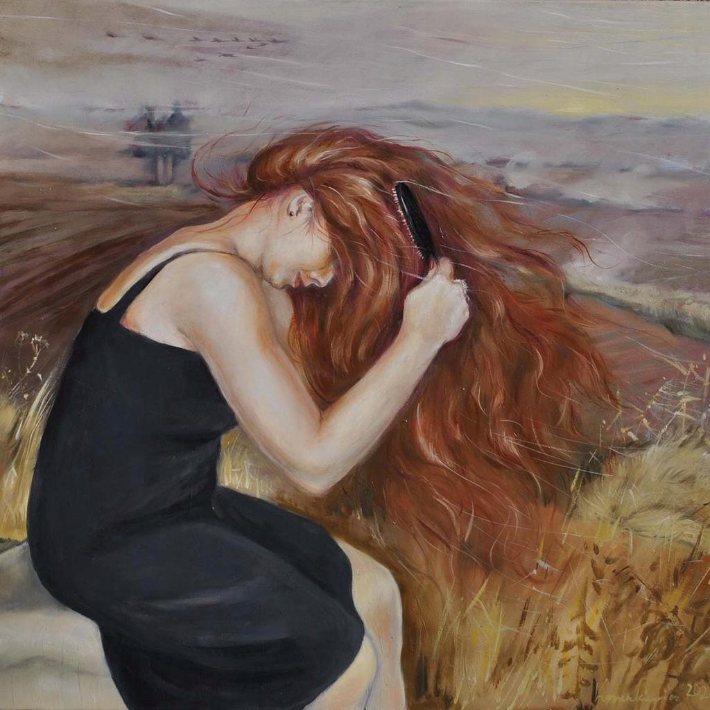 Obraz, Wiatr we włosach, 2020