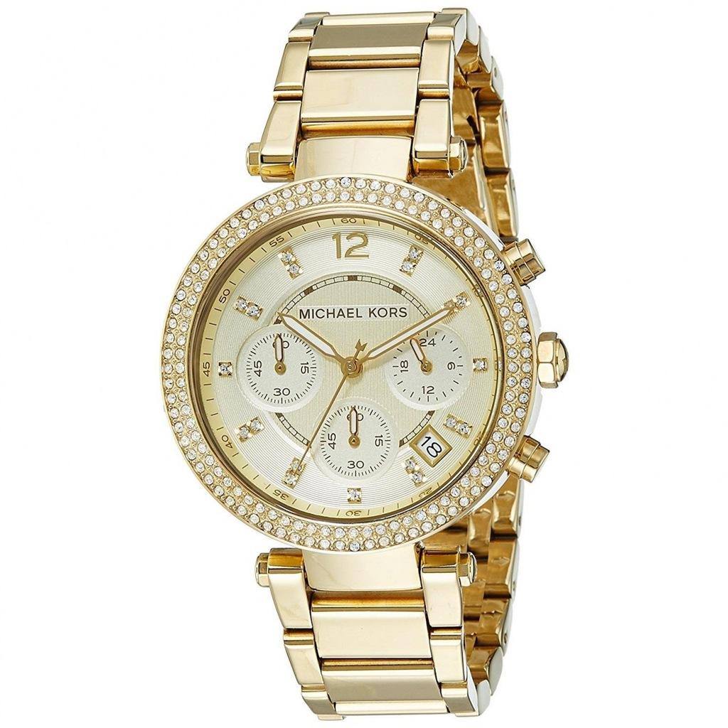 Zegarek Michael Kors MK5354 CYRKONIE, złota branso
