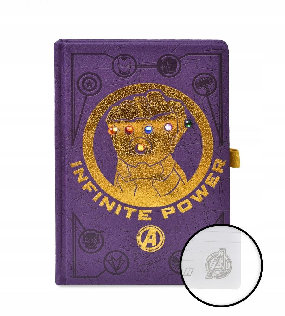 Avengers Wojna bez Granic Rękawica notes A5 zeszyt