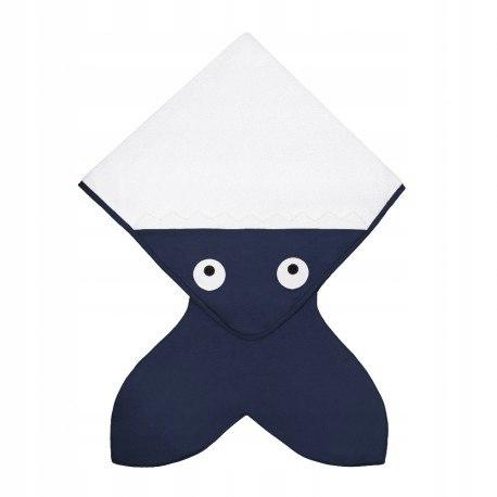 Baby bites ręcznik z kapturkiem 75 x 75 cm navy