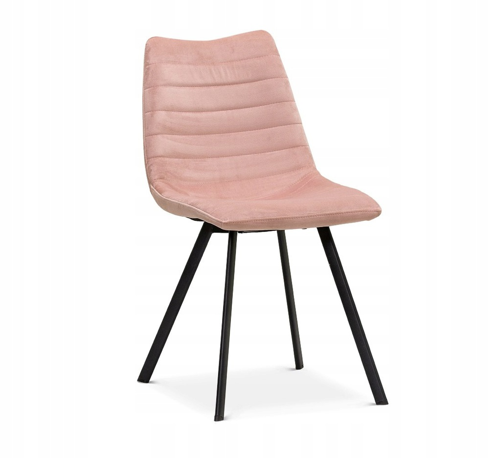 Krzesło ROXA różowy/ noga czarna