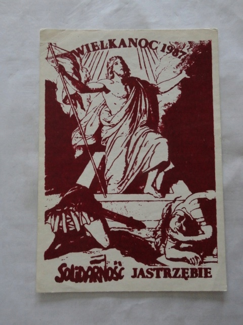 SOLIDARNOSC WESOLYCH SWIAT KARTA JASTRZEBIE 1987 R